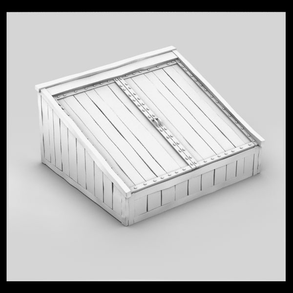 wood wooden cellar 3d max