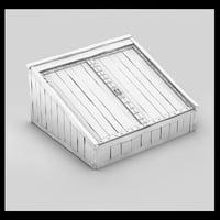 wood wooden cellar 3d max
