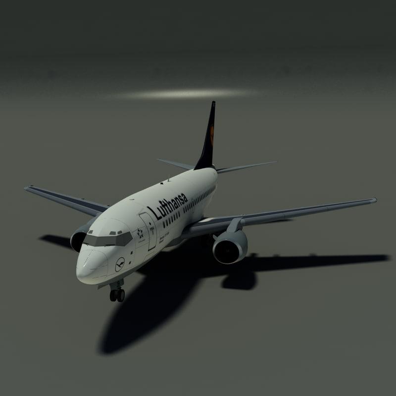 dwg b 737-500 lufthansa