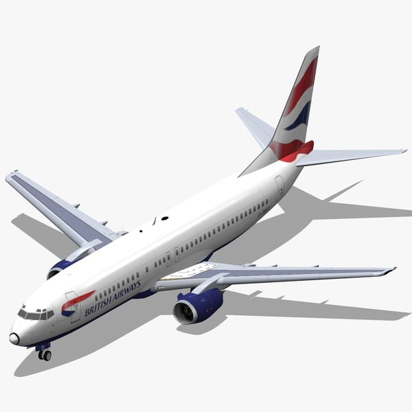 3d b 737-400 british airways model