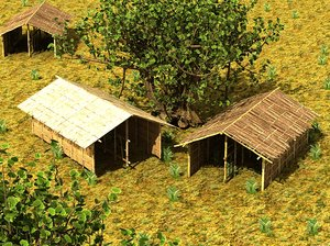 3ds max bamboo house