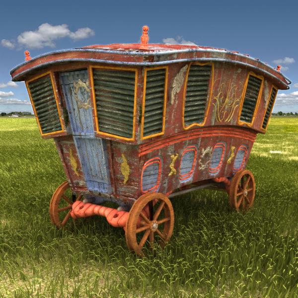 3d caravan van car model