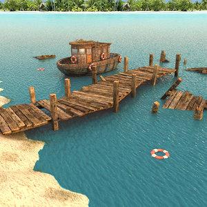 Wooden Pier Textured