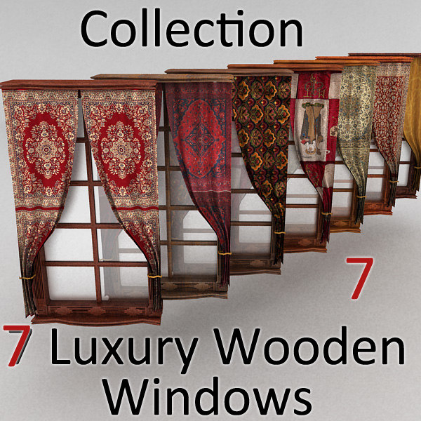 window wood curtain 3d model