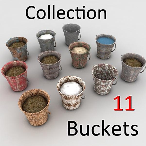 bucket fillings mud 3d model