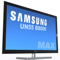 3d model tv samsung un55 b8000