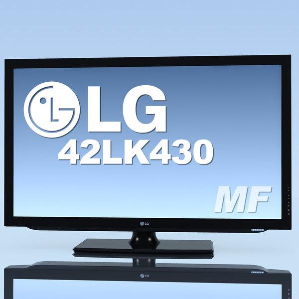 tv lg 42lk430 3d c4d
