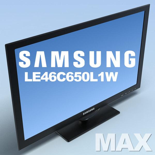 max tv samsung le46c650l1w