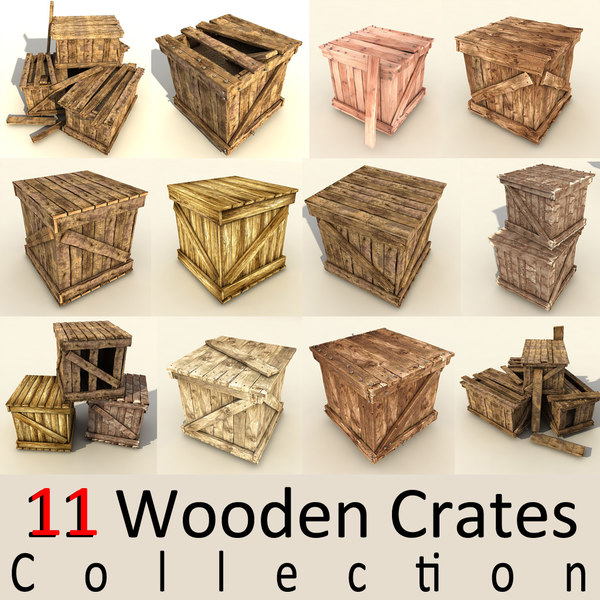 wooden crates wood max