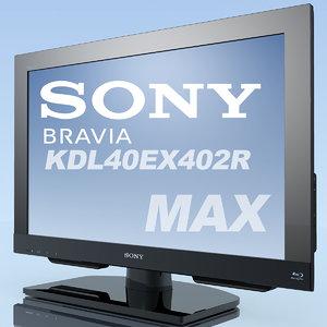 TV SONY Bravia KDL-40EX402R MAX