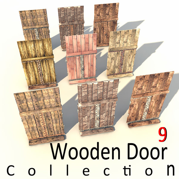 old wooden door textured