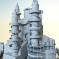 3d model landmark castle palace