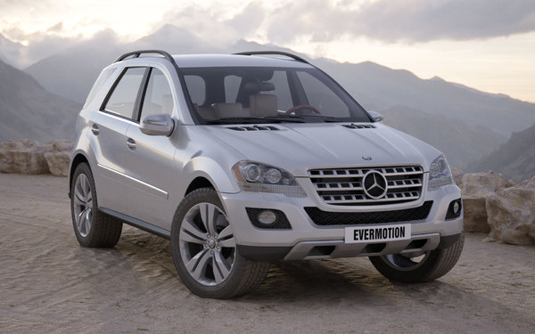 3ds max car mercedes ml 500