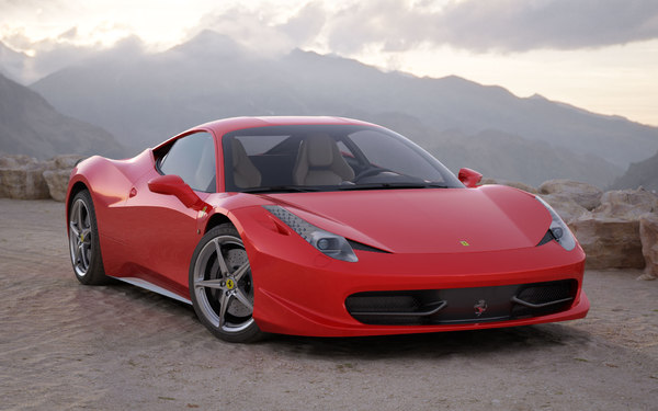 car ferrari 458 italia 3ds