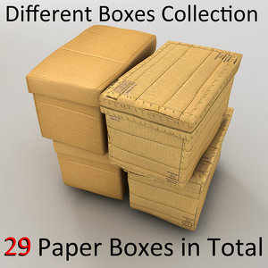 paper box cardboard 3d 3ds