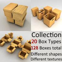 3d model box cardboard card