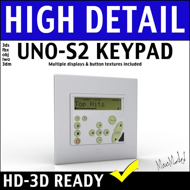 russound uno s2 keypad 3d 3ds