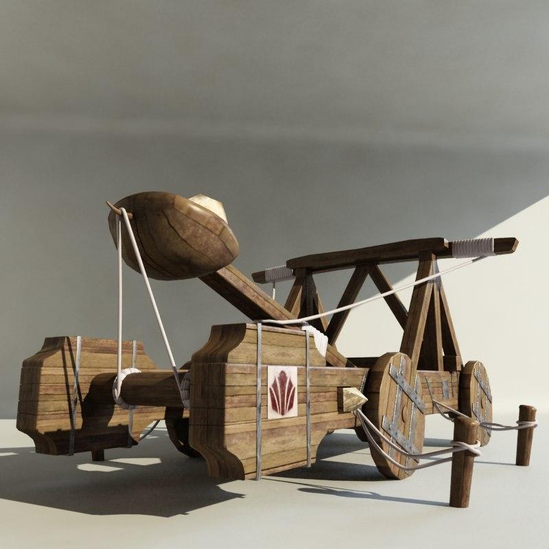catapult artillery 3d model