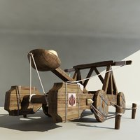 catapult artillery 3d model