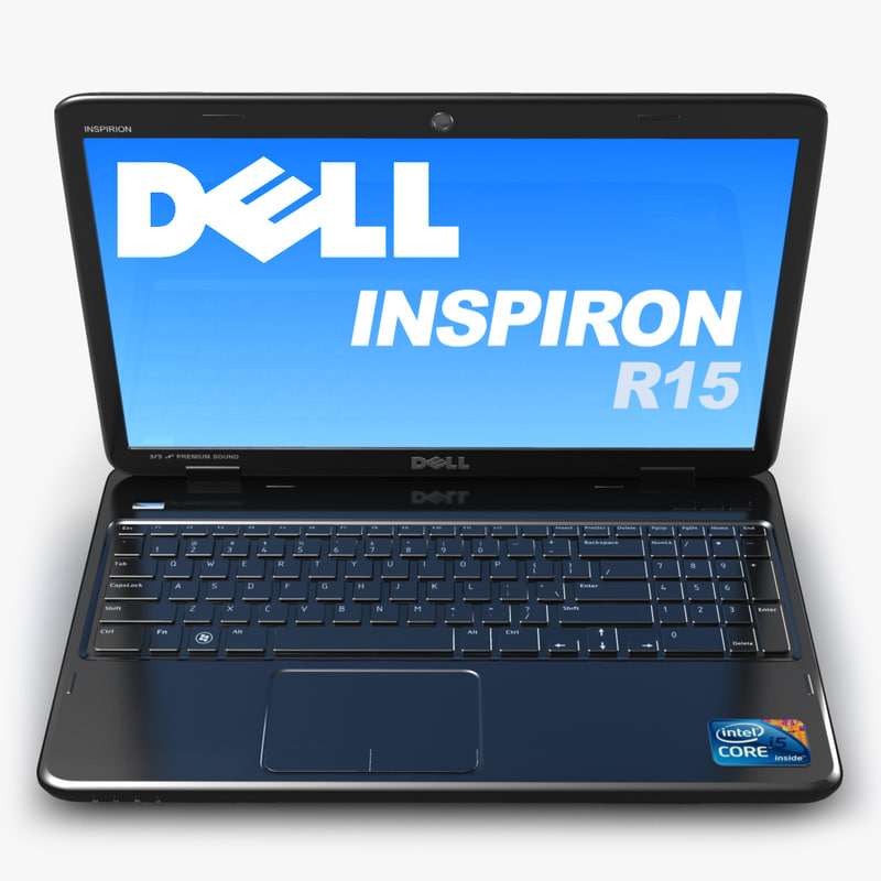 notebook dell inspiron 15r 3d model