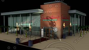 3d frankie benny s restaurant building