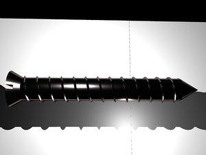 wood screw 3d model
