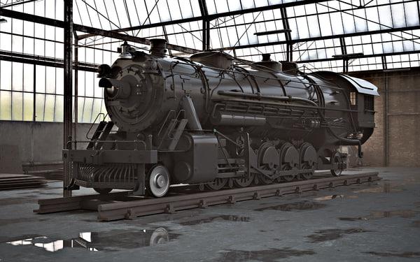steam locomotive 3ds