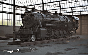 steam locomotive 3ds