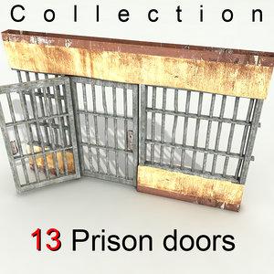 3d model prison door