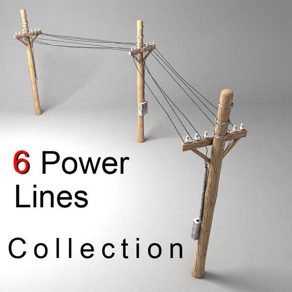 3d power line model