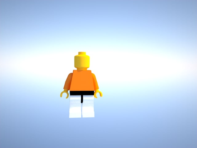 free lego man 3d model