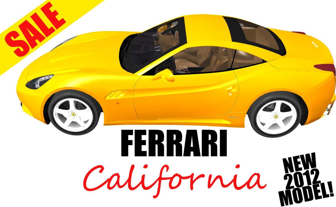 3d model of ferrari california
