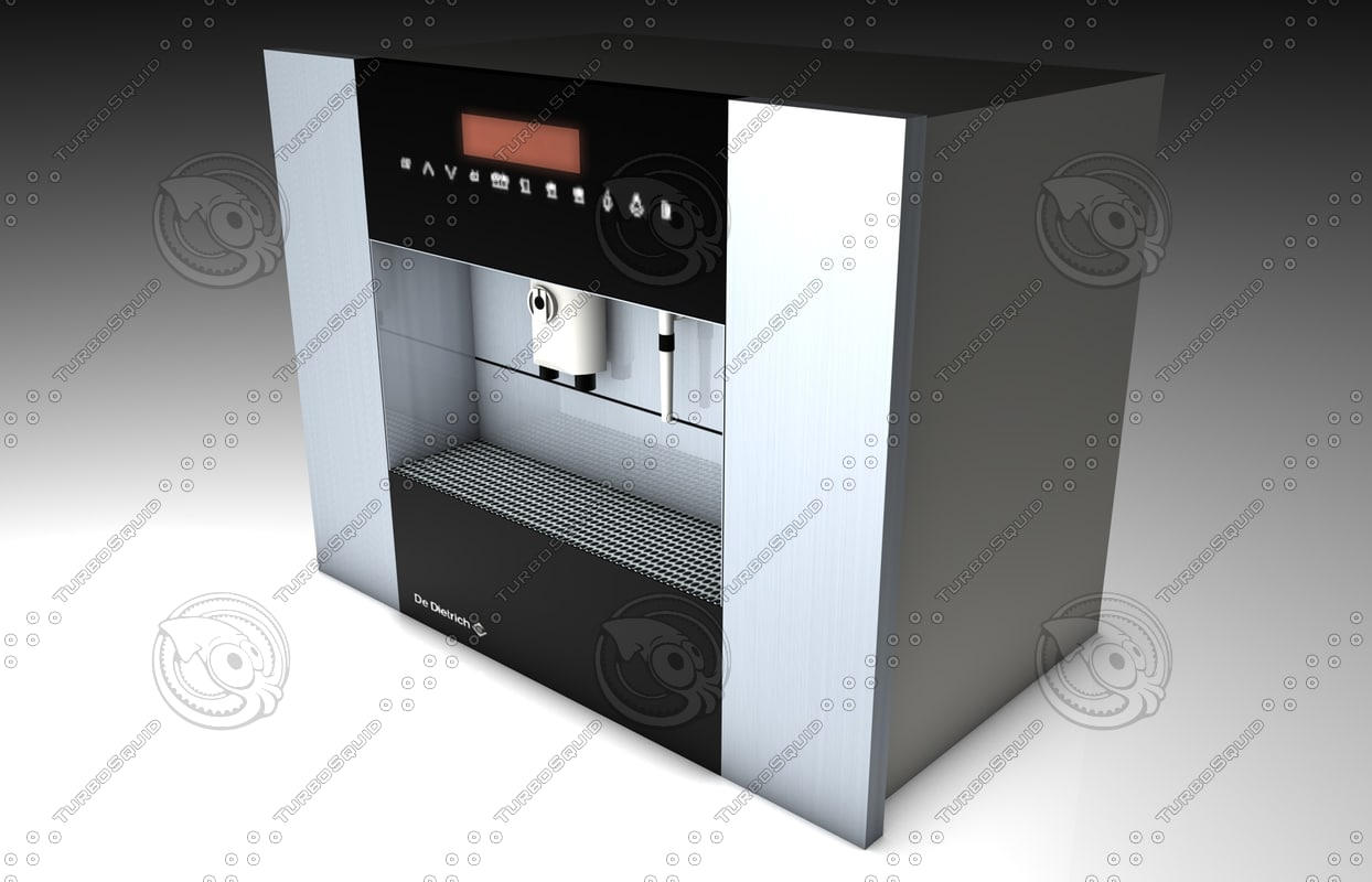 coffee machine dietrich ded700 3d model