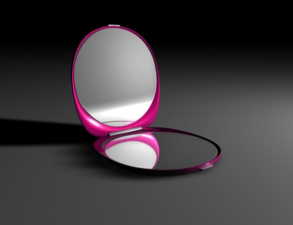 compact mirror 3d model
