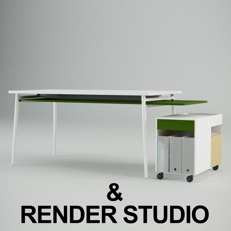 enchord desk 3d max