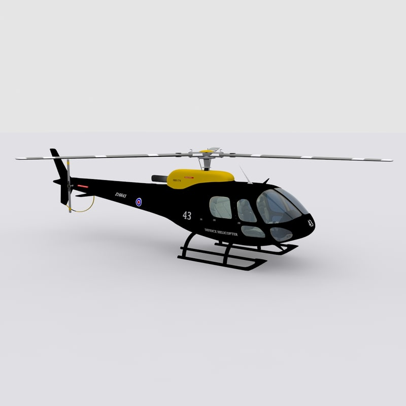 eurocopter helicopter 3d max