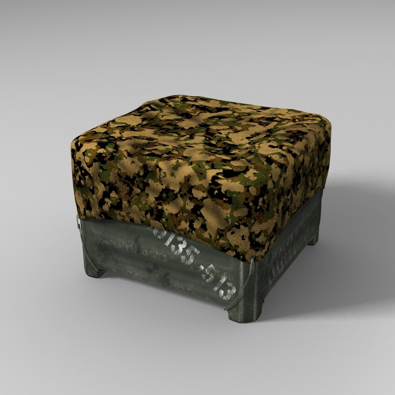 3d military storage crate