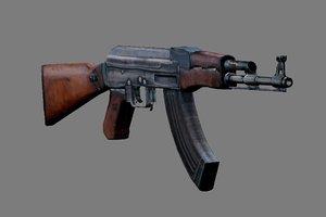 3d model of ak-47 gun