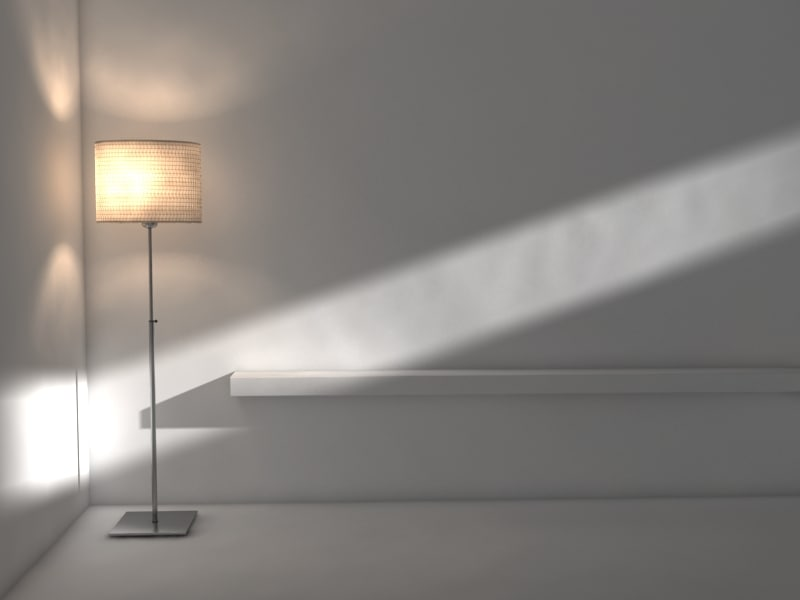 3dsmax ikea floor lamp