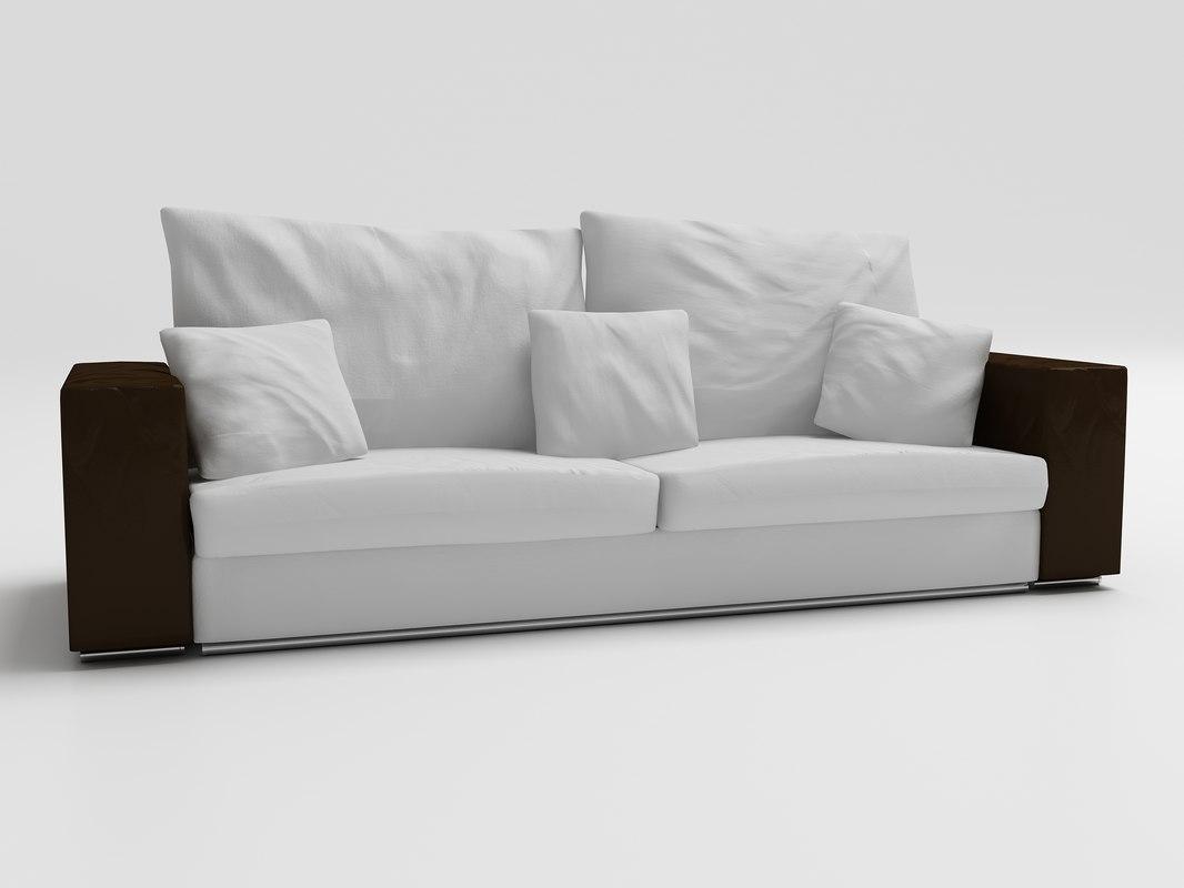 Flexform Groundpiece Sofa 3d 3ds