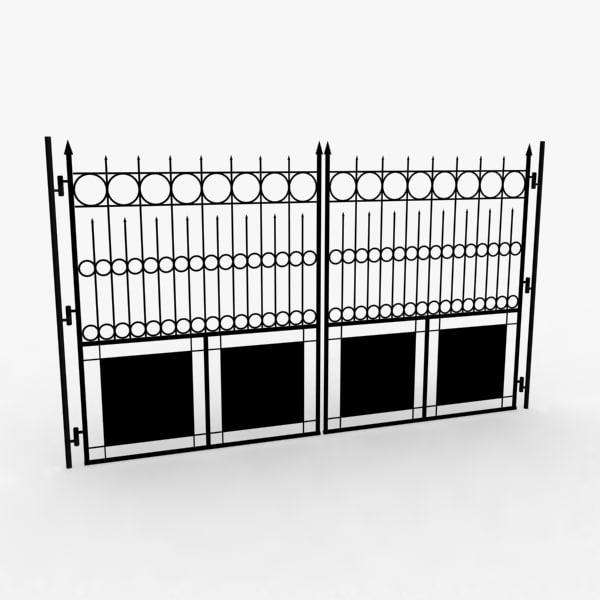 railing gate 3d model