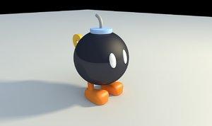 3d model bob-omb super mario