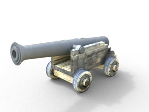 3dsmax garrison cannon 1700s