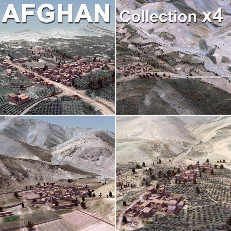 afghan urban towns villages 3d max