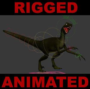 dinosaur velociraptor raptor 3d max