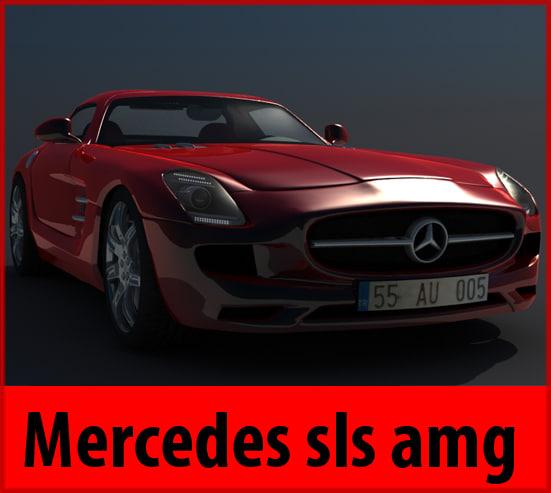 3ds max mercedes sls amg