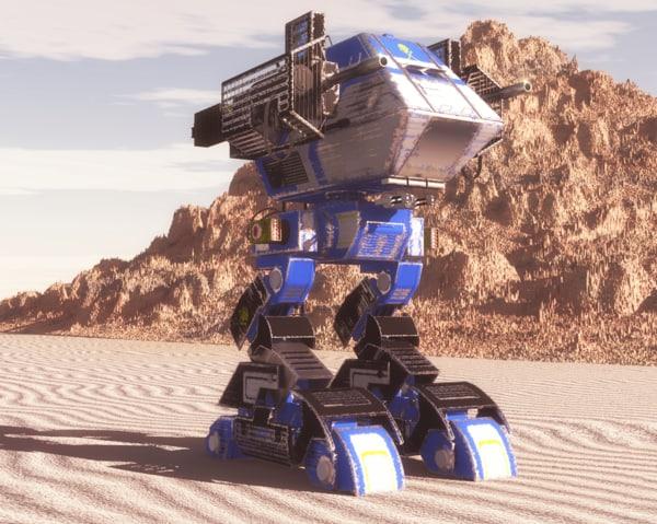 futuristic mech 3d model