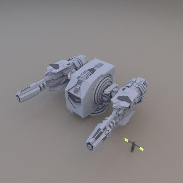 3d energy pulse cannon model