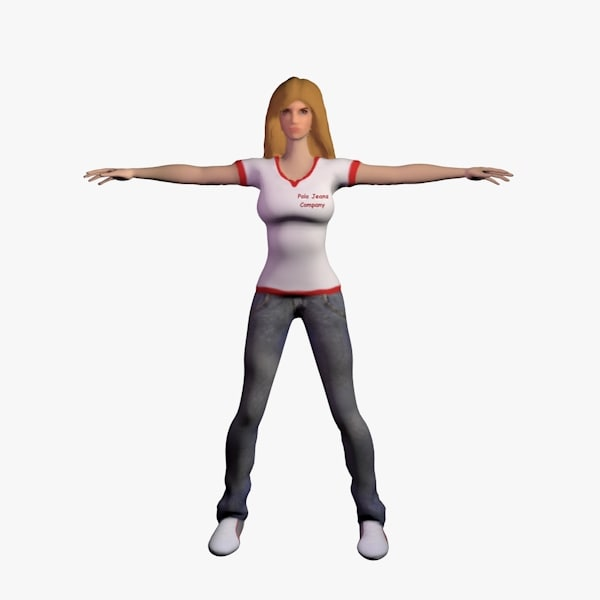 3d model of female character