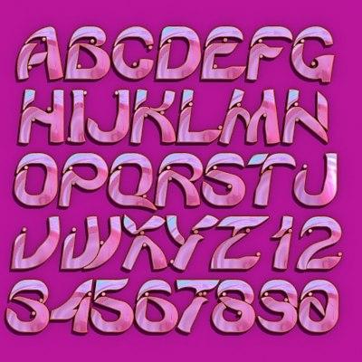 font letter 3d model